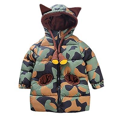 Ropa Bebe Otoño Invierno, ASHOP Sudadera con Capucha Bebe Jacket Outerwear Abrigos Chaqueta de Algodon Acolchado Abrigos Niño: Amazon.es: Ropa y accesorios