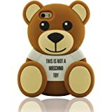iPhone 5 / 5C Funda, iPhone 5S Case, Pequeño Oso Ted Apariencia Silicona Gel Funda Carcasa Case Cover Bumper Suave Soft Cojín Protector pour iPhone 5 5S 5C 5G