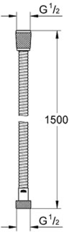 150 cm Brause- und Duschsysteme GROHE Relexaflex Brauseschlauch 28151000