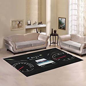 Love Nature Sweet Home Modern Collection Custom Mercedes Benz Area Rug 7'x5' Indoor Soft Carpet