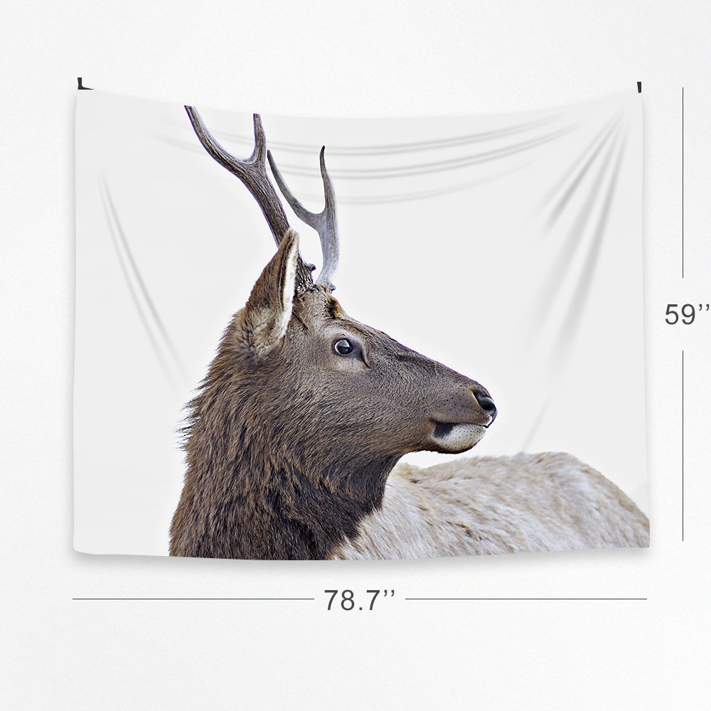 Deer Tapestry Wall Hanging Blanket Poster 59''x78.7'', Fabric Cloth Home Decor Modern Nordic Style by Orange Design (Image #3)