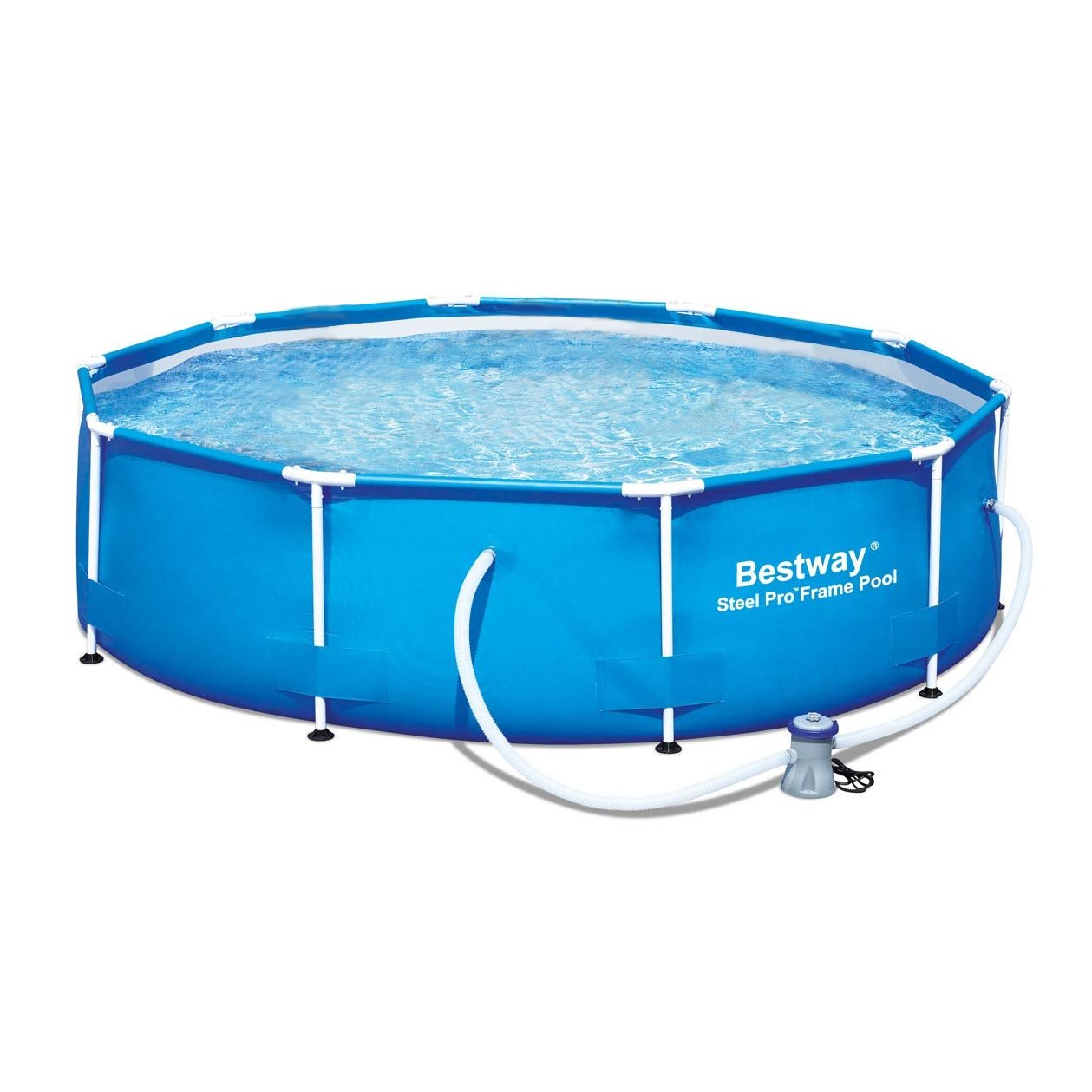 Bestway 12' x 36'' Steel Pro Frame Above Ground Family Swimming Pool Set w/Pump