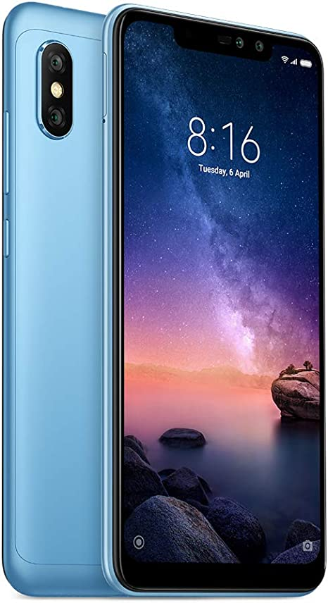 Xiaomi Redmi Note 6 Pro Dual SIM 32GB 3GB RAM Blue: Xiaomi: Amazon ...