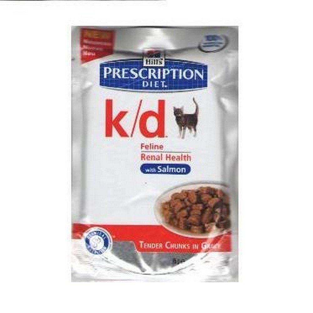 Hills Diet Feline k/d salmón (bolsita) (12x85 gr): Amazon.es: Alimentación y bebidas