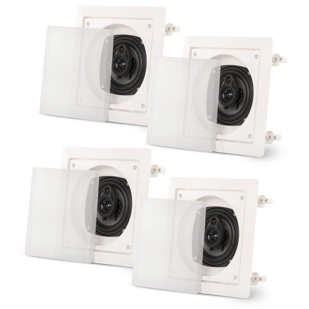 Acoustic Audio CS-I43S-2PR 200 Watt 4'' 3-Way Home Theater In-Wall/Ceiling Speakers (2-Pair)