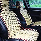 Mazur Natural Bamboo Car Seat Cushion Summer Cool Cushion Breathable Comfortable Seat Cover Pad Mat Universal fit Auto Cars(Wood Color)