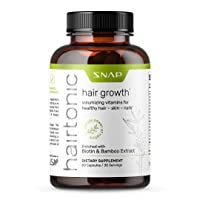 Hairtonic - Women Hair Growth Formula - Longer, Stronger, Healthier Hair, Skin and Nail Vitamins - Formulated Biotin 5000 mg, Keratin, Collagen, Bamboo & More! - 60 Capsules