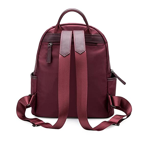 Amazon.com: SUN Korean Version Backpack School Bag Oxford Cloth Handbags Campus Burgundy/Black Large/Small Yards (Color : Wine red, Size : Small size): ...