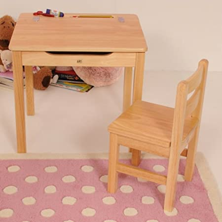 Pintoy Natural Desk and Chair: Amazon.co.uk: Kitchen & Home