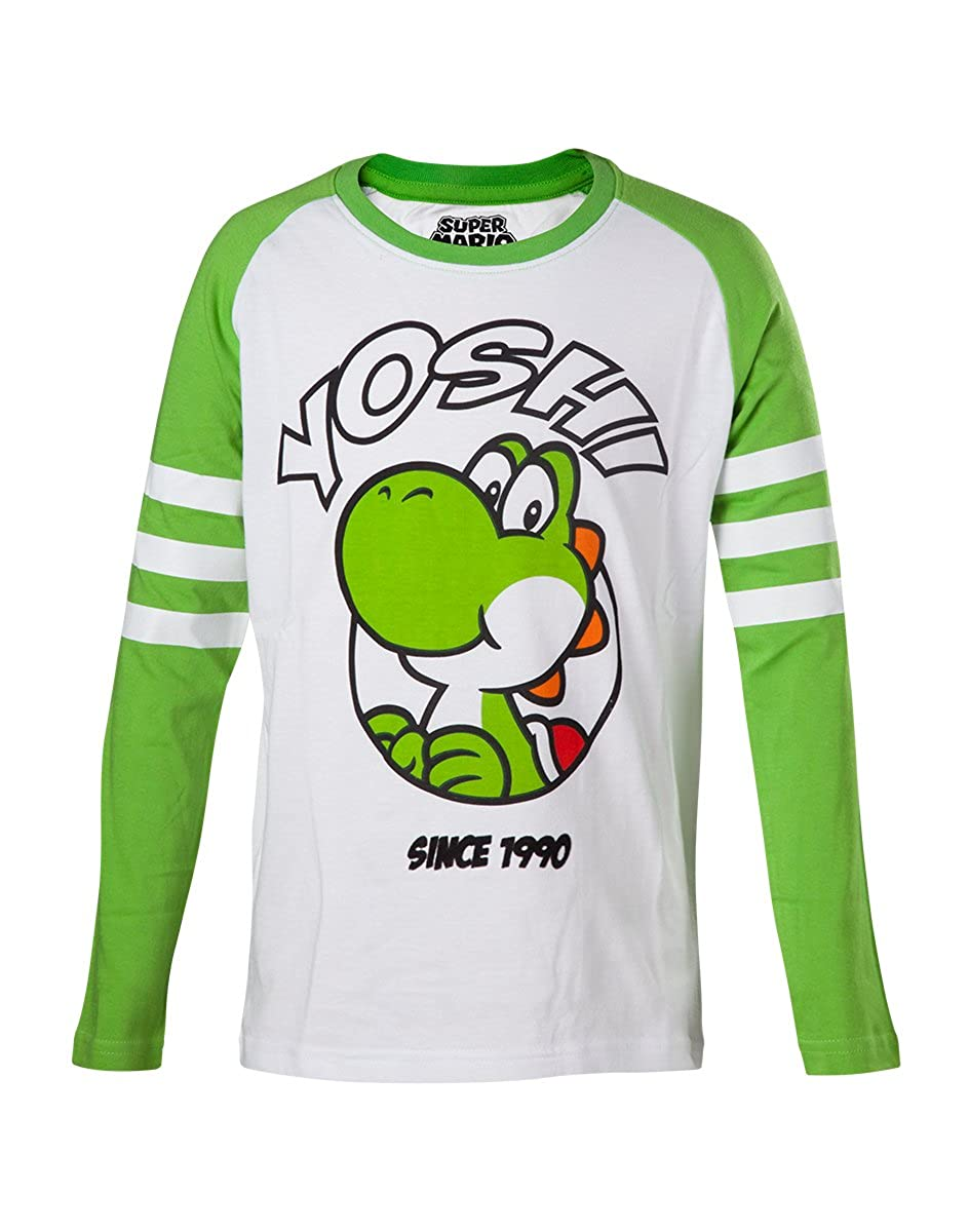 Super Mario Yoshi Children's Longsleeve Green-White