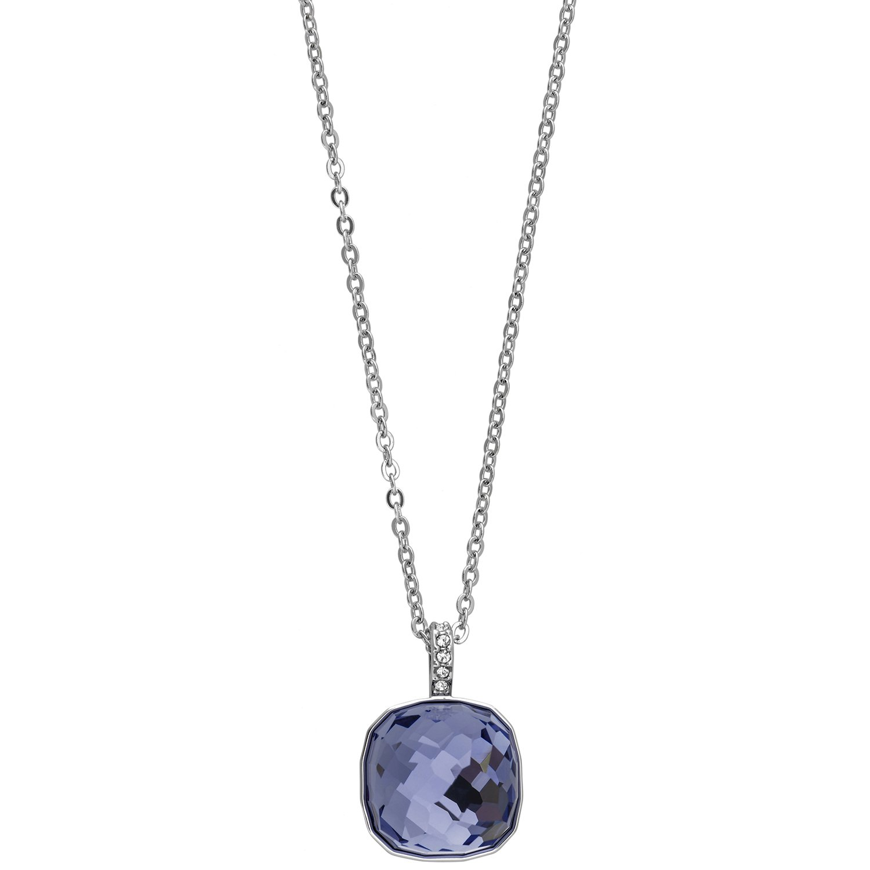 Swarovski Dot 5190021 Tanzanite Crystal Pendant Rhodium Plated Necklace