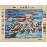 RTO Boats D'Art Needlepoint Printed Tapestry Canvas, 40 x 50cm