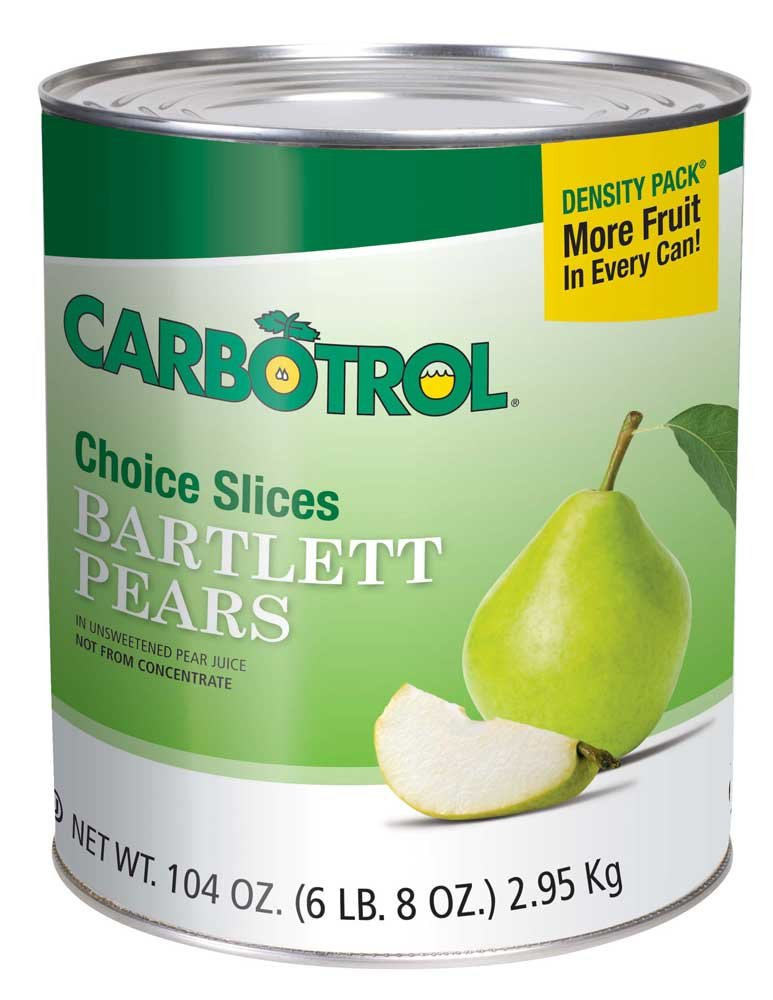 Carbotrol Slice Pear 6 Case 10 Can by Leahy IFP