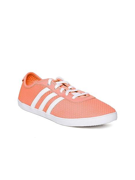 Buy Adidas NEO Women Neon Orange VS QT Vulc Sneakers (5UK