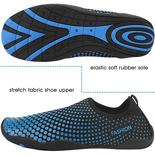 Sibba Unisex Water Sport Aqua Shoes Barefoot Skin Shoes Beach Swim Exercise Shoe for Women and Men Blue a0MlwW3b2p