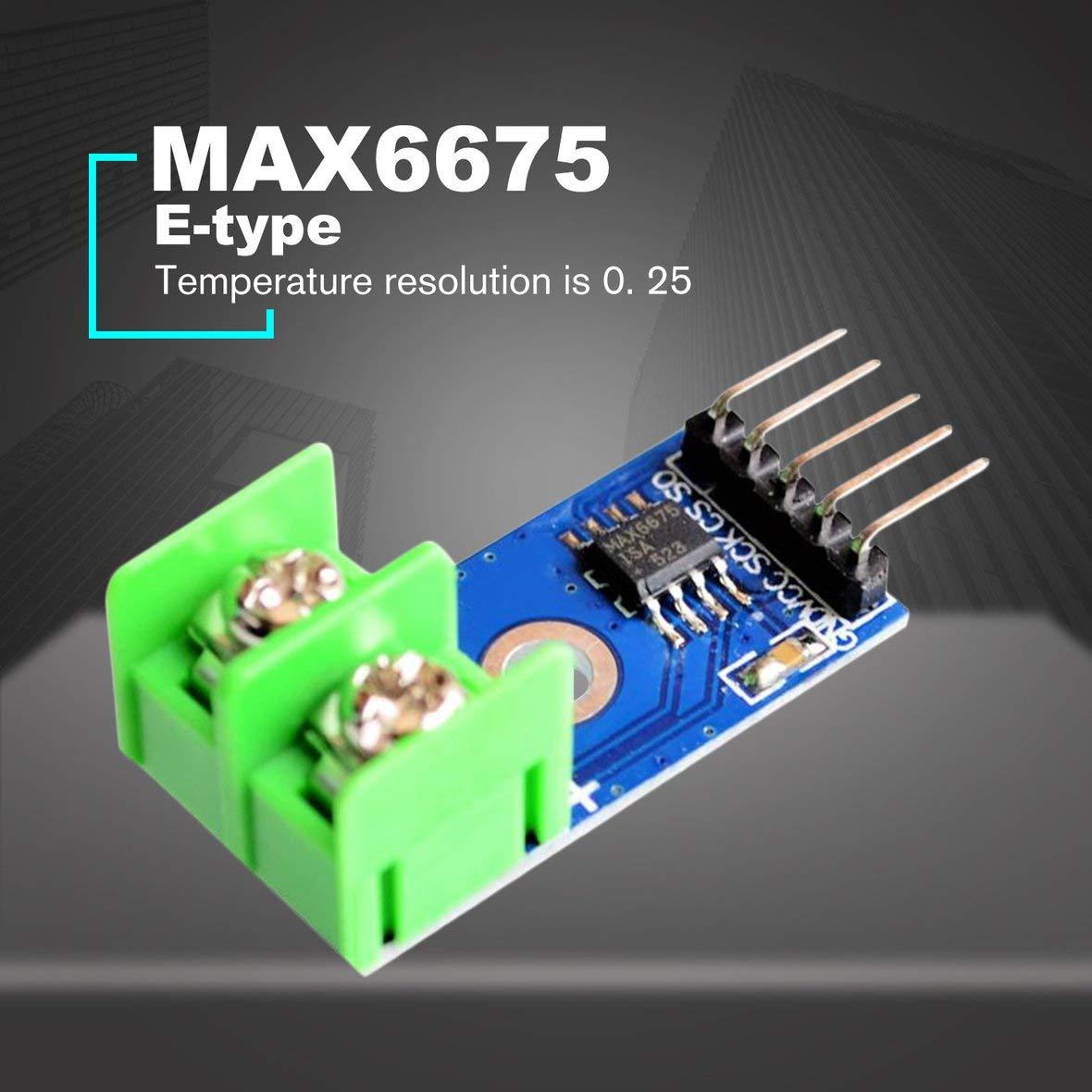 BLUE/&GREEN MAX6675 E-Type Thermocouple Temperature Sensor Thermometer Temp Module Kit Board Probe for Arduino 0℃-1024℃ Electronic DIY