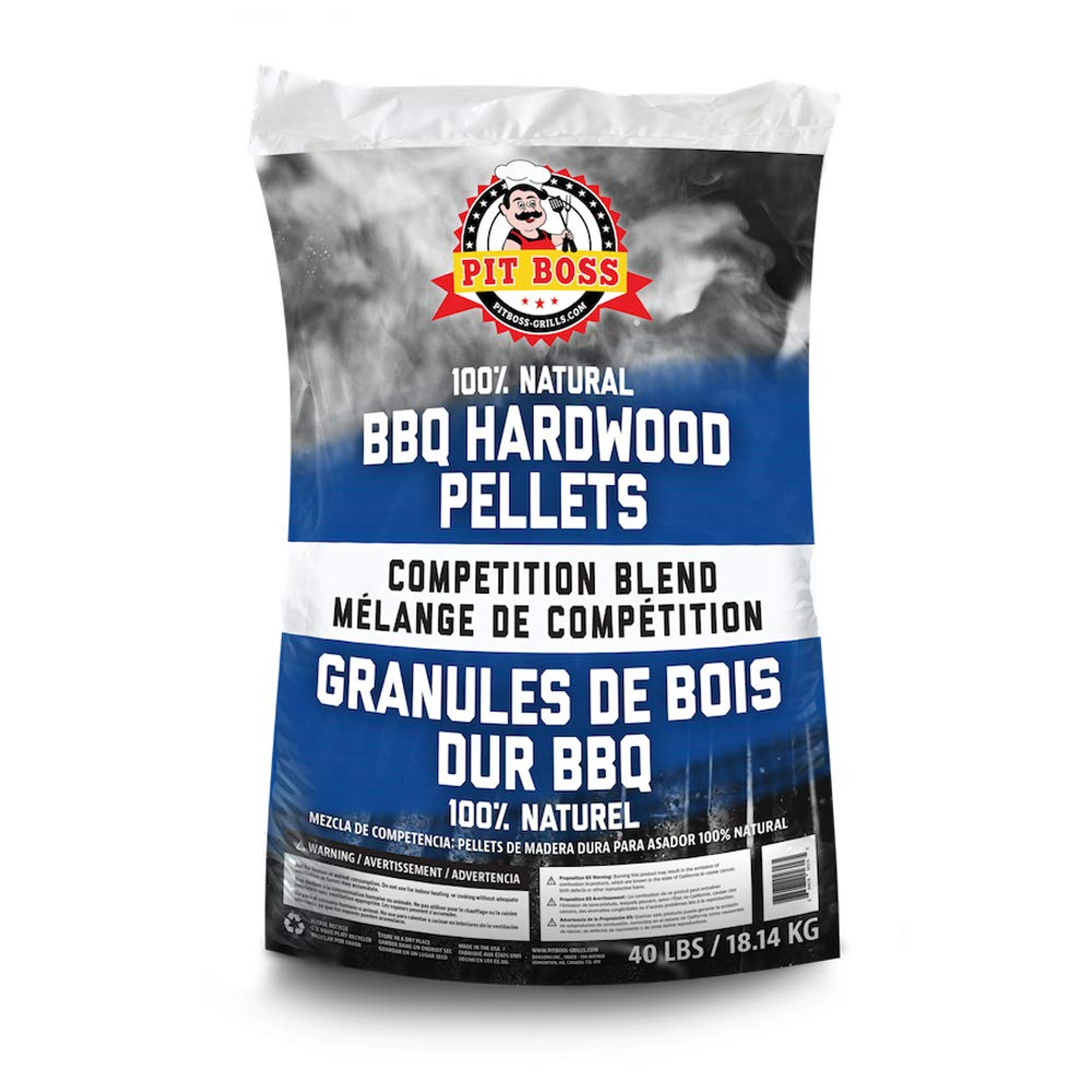 Pit Boss 55435 40 Pound Bag BBQ Wood Pellets for Pellet Grill, Competition Blend by Pit Boss Grills