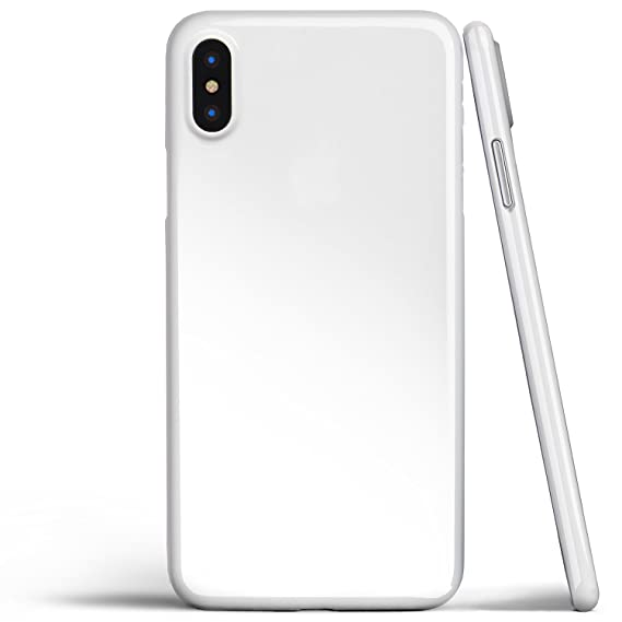 new product 550bc 7ab43 iPhone X Case, Thinnest Cover Premium Ultra Thin Light Slim Minimal  Anti-Scratch Protective - for Apple iPhone X | totallee (Jet White)