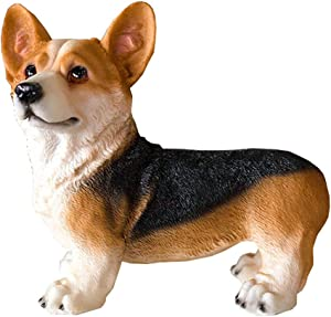 "TENCMG Animal Statue 10"" Corgi Statue - European Style Sculpture Desktop Decor - Office Desktop Decoration Sculpture-b"