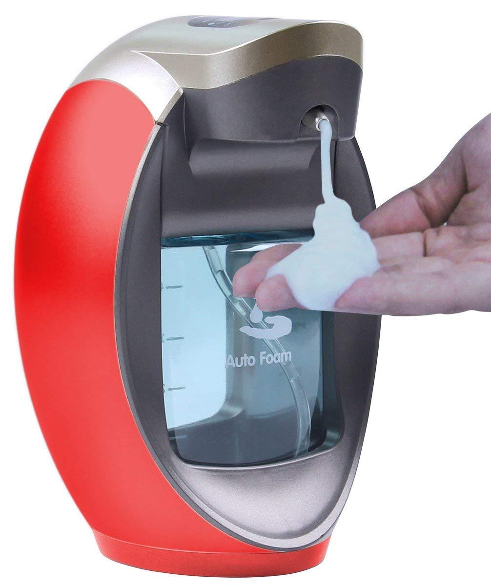Yooap 480ml/16 oz 2 Mode Adjustable Automatic Foaming Sensor Pump Soap Dispenser,Touchless Hand-free Soap Dispenser for Bathroom, Kitchen or Hotel Countertops(Gold) Kitchen or Hotel Countertops(Gold)
