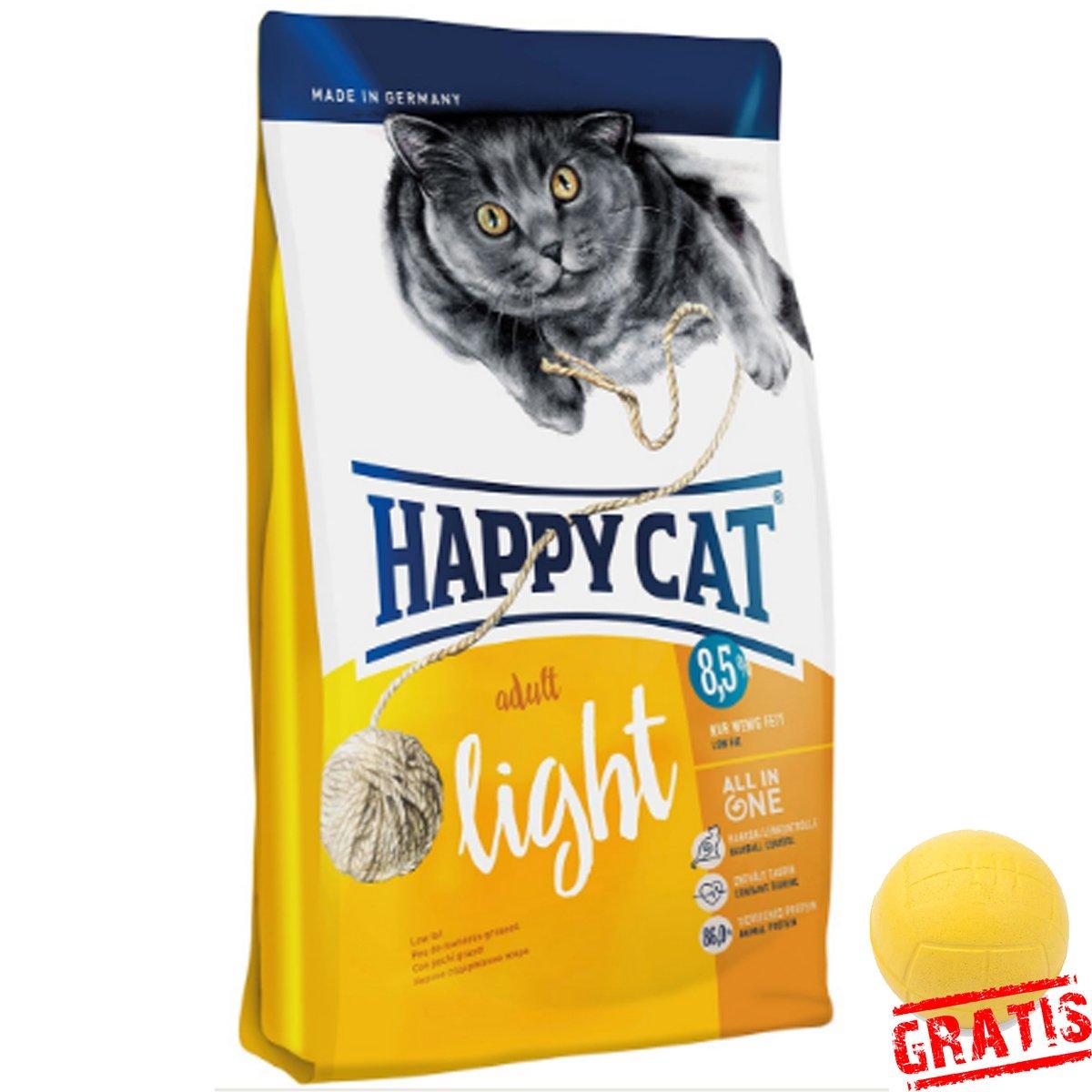 Happy Cat Adult light hcla + Ball gratis ausgewachsene Gatos Rico ...