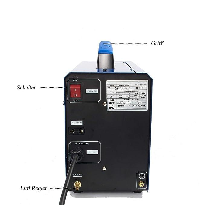 Soldadora TIG/MMA/MIG MG200 3 en 1 máquina de soldadura semi-automática de múltiples funciones combinada 220V 200AMP: Amazon.es: Bricolaje y herramientas