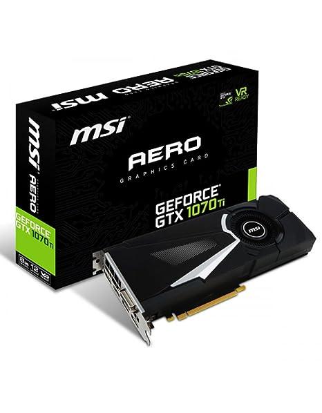 MSI GeForce GTX 1070 Ti AERO 8G - Tarjeta Gráfica AERO: Msi ...