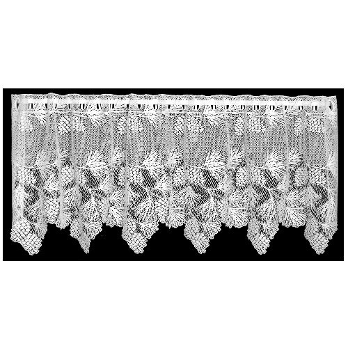 Heritage Lace Woodland 60-Inch Wide by 30-Inch Drop Tier, White