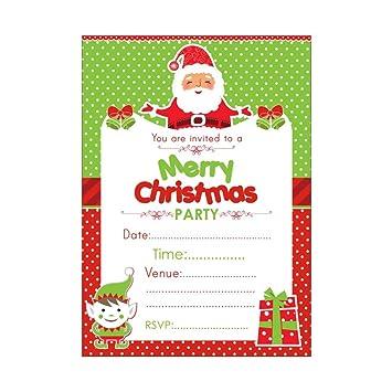amazon クリスマスパーティーinvitations and thank youカードセット
