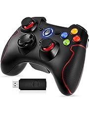 EasySMX ESM-9013 - Controller gioco senza fili, Nero/Rosso