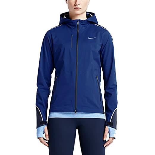 Nike Hyper Shield Light Womens Running Jacket (Small, Deep Royal  Blue/Obsidian)