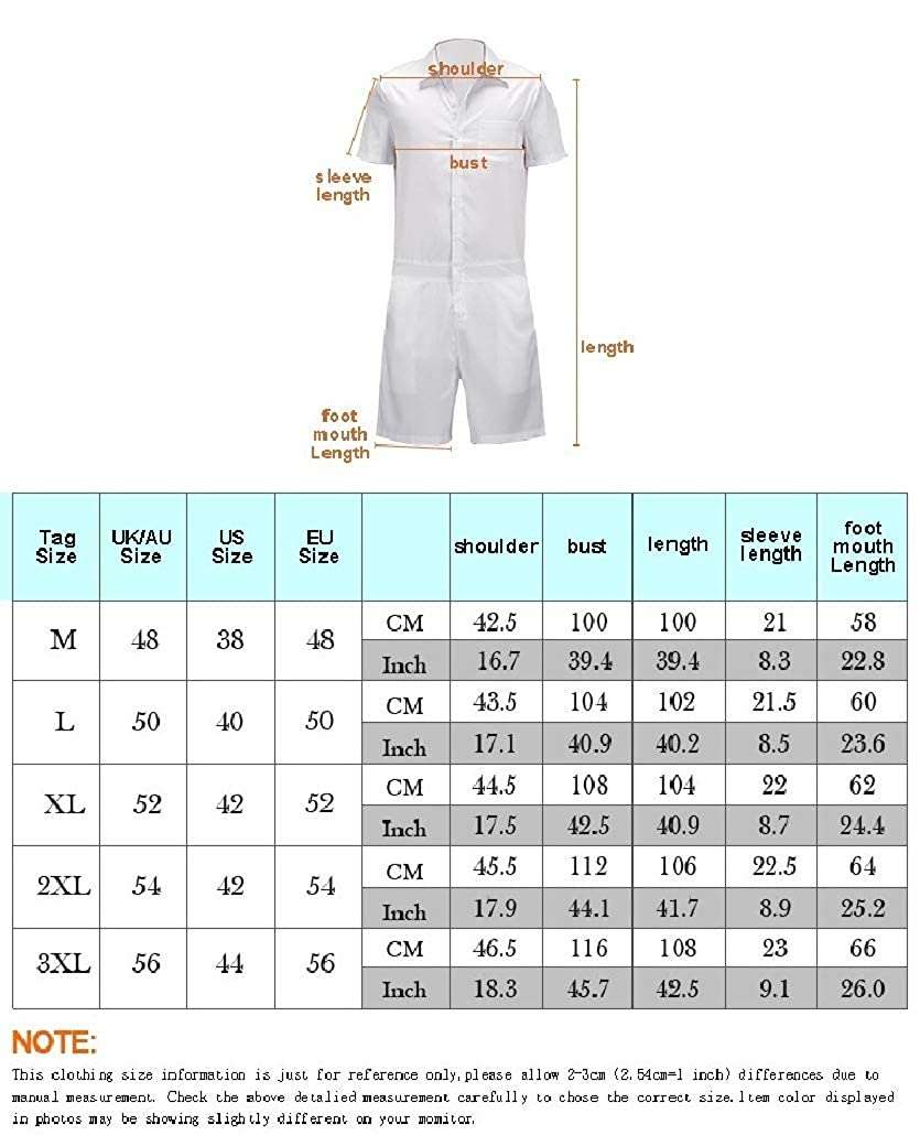 Coolred-Men Jumpsuits Plus Size Short-Sleeve Contrast Printing Casual Pants