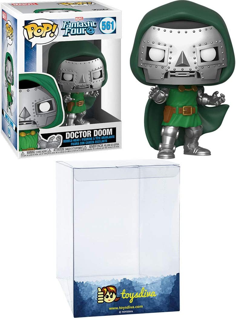 Doctor Doom: Funk o Pop! Vinyl Figure Bundle with 1 Compatible ToysDiva Graphic Protector (561 - 44991 - B): Amazon.es: Juguetes y juegos