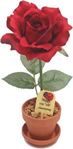 12th Wedding Anniversary Gift Potted Artificial Rose