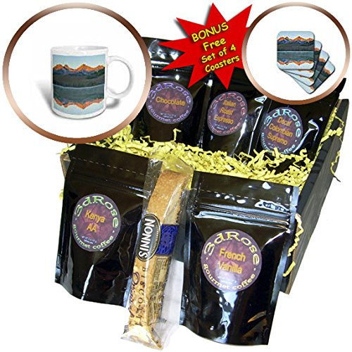 Danita Delimont - Mountains - Alpenglow, sunrise, reflections, Sawtooth National Forest, Idaho - Coffee Gift Baskets - Coffee Gift Basket (cgb_230757_1) (Idaho Gift Baskets)