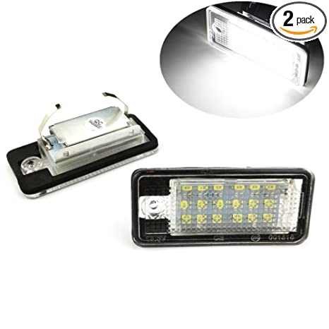 Auto, motor: onderdelen, accessoires 1x Audi A8 D3 Bright Xenon White 3SMD LED Canbus Number Plate Upgrade Light Bulb