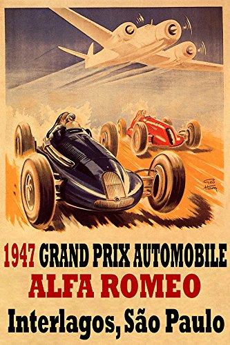 1947 GRAND PRIX AUTOMOBILE ALFA ROMEO INTERLAGOS SAO PAULO CAR TRACK RACE AIRPLANE 16