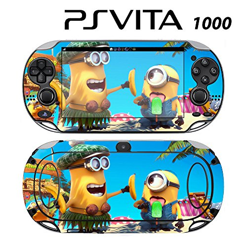 Skin Decal Cover Sticker for Sony PlayStation PS Vita (PCH-1000) - Despicable Me Minions Banana Song (Despicable Me Game Playstation)