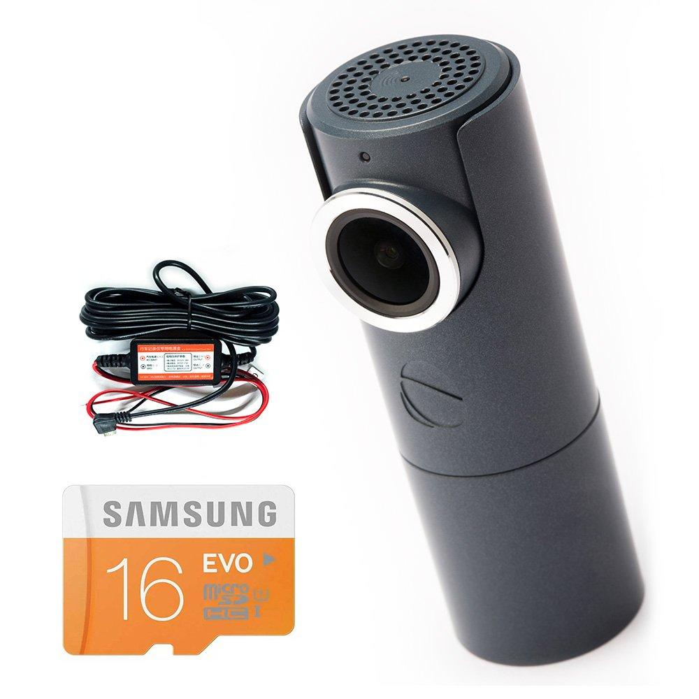GOLUK T3 in STONE GREY full HD car dash cam + Hard Wire Kit + 16 Gb SD Card Super Bundle