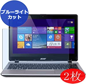 【2 Pack】 Synvy Anti Blue Light Screen Protector for Acer Aspire V3-112P-P2E7 Touch 11.6
