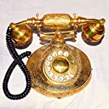 BRASS VINTAGE FRENCH VICTORIAN HALLOWEEN STYLE ROTARY DIAL PHONE TELEPHONE
