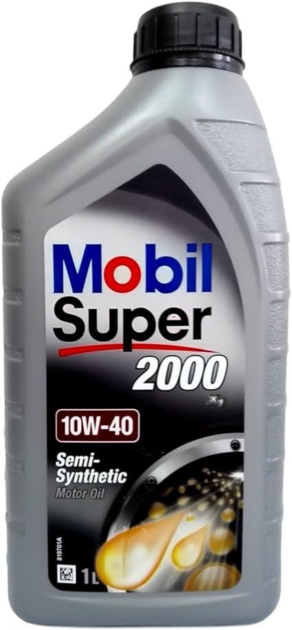 Aceite Motor Coche Mobil 1 Super 2000 10 W40 Acea A3/B3 API SL ...