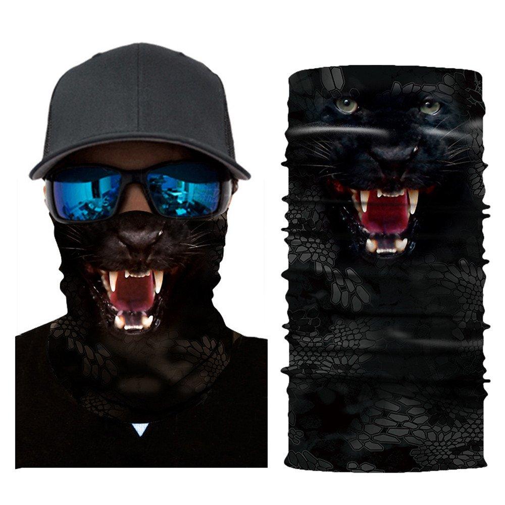 Colorful Damen/Herren Multifunktionstuch   Sturmmaske   Bandana   Schlauchtuch   Halstuch für Motorrad Fahrrad Ski Paintball Gamer Karneval Kostüm 3D Tiere Maske
