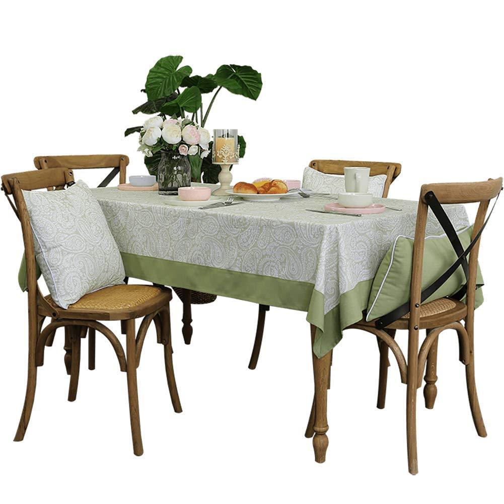 四角形 洗える コットンリネン テーブル, 装飾的です ノンスリップ テーブルカバー 耐汚染性 の ダイニング ルーム- 135x220cm(53x87inch)   B07RFGXJ56