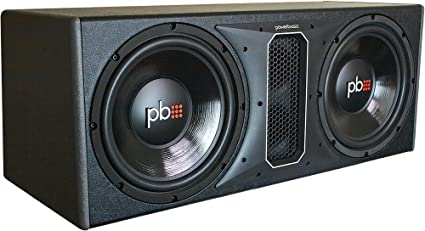 Powerbass PS-WB122 1100W Dual 12-inch Loaded Subwoofer Enclosure SVC 4 Ohm