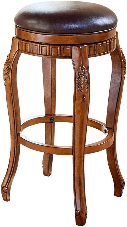 Amazon Com Barstool With Back Wooden Counter Height Stool With