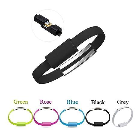 Muñeca Banda Pulsera Cargador rápido USB Cable, bestga ...