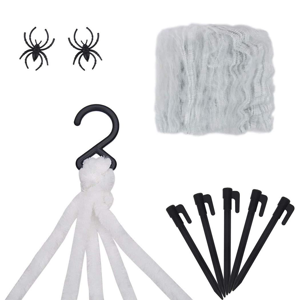 ZOYLINK Halloween Spider Web Set Decorativo de Halloween Prop Disfraz Prop para decoración de Patio