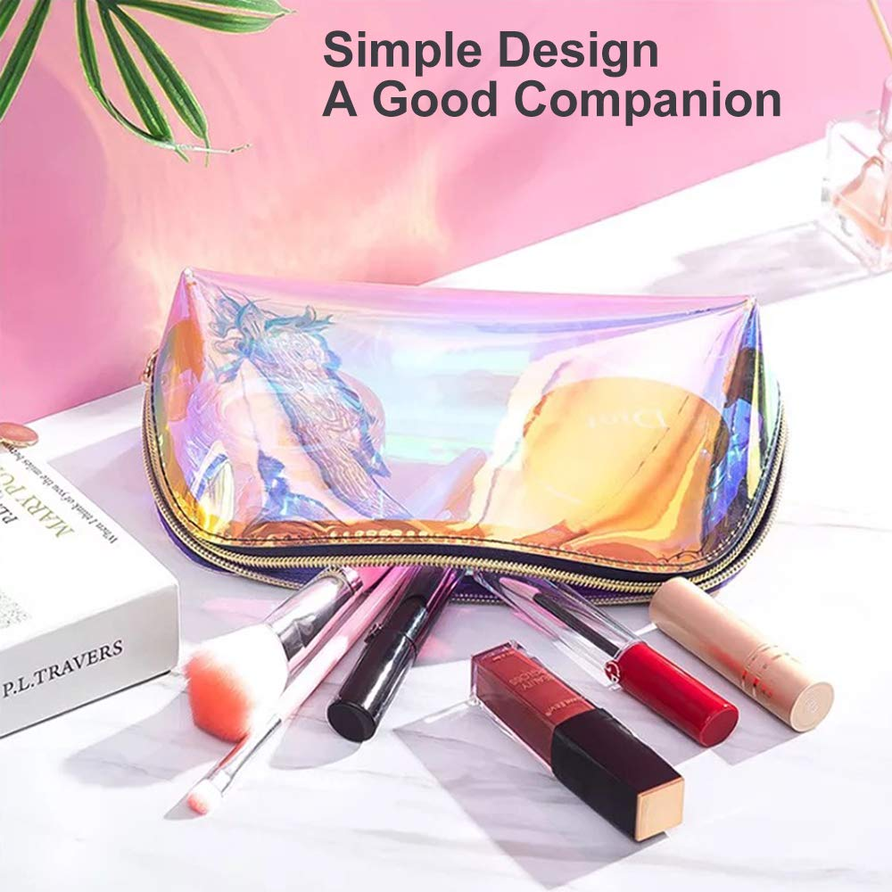 Amazon.com: Longjet - Bolsa de maquillaje holográfica ...