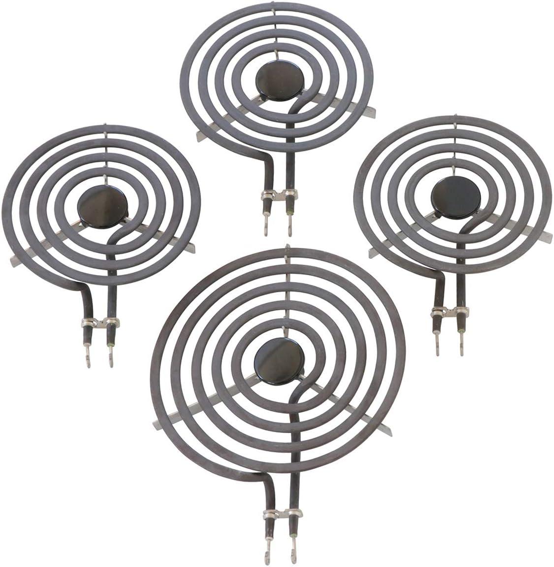 """Kitchen Basics 101: 4 Piece Set MP31YA Electric Range Burner Surface Element (3) MP15YA 6"""", (1) MP21YA5 8"""""""